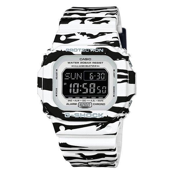 Часы Casio G-Shock Dw-d5600bw-7e Tiger CamoКонтрастные спортивные часы в корпусе с ярким тигровым принтом.Технические характеристики: Автоматическая подсветка.Ударопрочная конструкция защищает от ударов и вибрации.LED-индикатор.Функция мирового времени.Функция секундомера- 1/100 сек. - 24 часа.Таймер - 1/1 сек. - 24 часа (с автоматическим повтором).Яхт-таймер.Будильник с тремя многофункциональными звуковыми сигналами и функцией повтора.Включение/выключение звука кнопок.Автоматический календарь.12/24-часовое отображение времени.Минеральное стекло - прочное, устойчивое к царапинам минеральное стекло защищает часы от повреждений.Корпус из полимерного пластика.Ремешок из полимерного материала.Продолжительное время работы аккумулятора - 10 лет.Водонепроницаемость (20 Бар) - 200м.Точность +/- 15 сек в месяц.<br><br>Цвет: черный,белый<br>Тип: Электронные часы<br>Возраст: Взрослый<br>Пол: Мужской