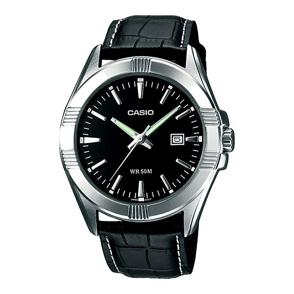 Часы Casio Collection Mtp-1308pl-1a Grey/Black часы casio collection mtp 1314pd 1a silver black