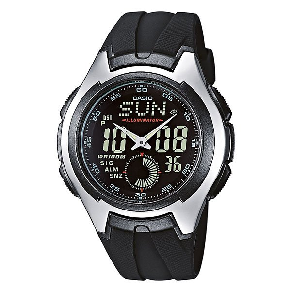 Часы Casio Collection Aq-160w-1b Black/Grey