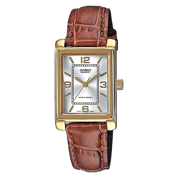 Часы Casio Collection Ltp-1234pgl-7a Gold/Brown кварцевые часы casio collection ltp e118g 5a