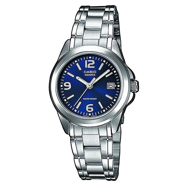 Часы Casio Collection Ltp-1259pd-2a Grey/Blue кварцевые часы casio collection ltp e118g 5a