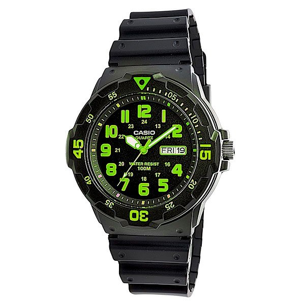 все цены на Часы Casio Collection Mrw-200h-3b Black/Green онлайн