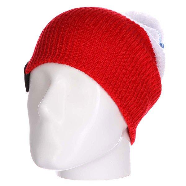 Шапка Les Dude Небо/Белый/Красный<br><br>Цвет: белый,красный,синий<br>Тип: Шапка<br>Возраст: Взрослый<br>Пол: Мужской