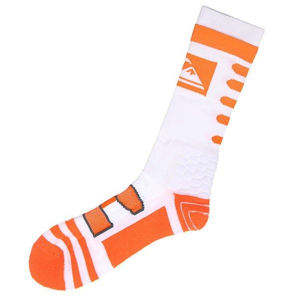Носки высокие Quiksilver Crew White<br><br>Цвет: оранжевый,белый<br>Тип: Носки высокие<br>Возраст: Взрослый<br>Пол: Мужской
