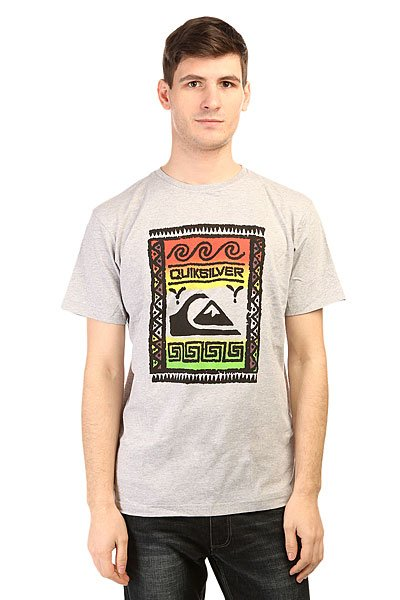 Футболка Quiksilver Classteewallstr Tees Athletic Heather