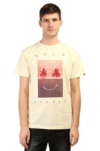Футболка Quiksilver Class Tee Sad Bet Tees Transparent Yellow
