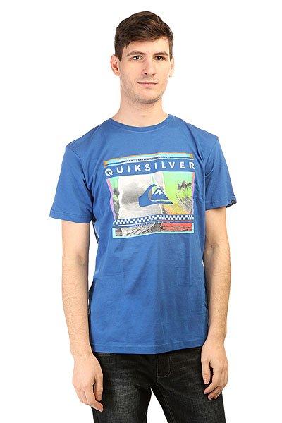 Футболка Quiksilver Class Tee Spra You Tees Turkish Sea<br><br>Цвет: синий<br>Тип: Футболка<br>Возраст: Взрослый<br>Пол: Мужской