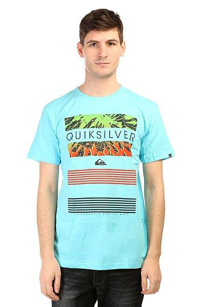 Футболка Quiksilver Classic Tee Linup Tees Bluefish<br><br>Цвет: голубой<br>Тип: Футболка<br>Возраст: Взрослый<br>Пол: Мужской