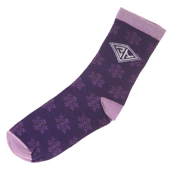 Носки средние женские Запорожец Снежинки Purple<br><br>Цвет: фиолетовый<br>Тип: Носки средние<br>Возраст: Взрослый<br>Пол: Женский