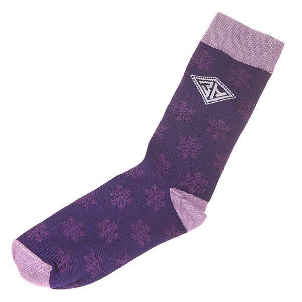 Носки средние Запорожец Снежинки Purple<br><br>Цвет: фиолетовый<br>Тип: Носки средние<br>Возраст: Взрослый<br>Пол: Мужской