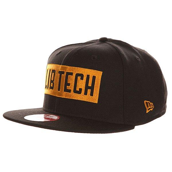 Бейсболка с прямым козырьком Lib Tech Knockout New Era Black<br><br>Цвет: черный<br>Тип: Бейсболка с прямым козырьком<br>Возраст: Взрослый<br>Пол: Мужской