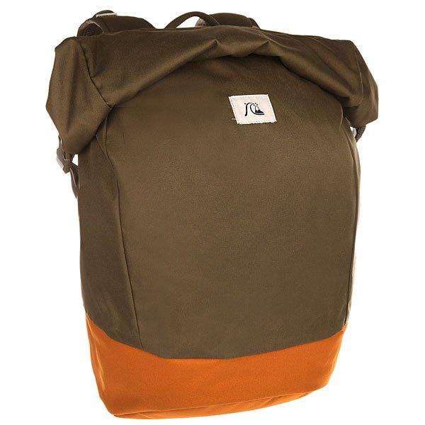 Рюкзак туристический Quiksilver New Roll Top Forest NightОтличный рюкзак, с которым путешествие по городу станет комфортным и удобным.Характеристики:Просторное основное отделение. Горловина на карабинах, которую можно свернуть роликом. Внутреннее отделение для ноутбука форматом до 15 дюймов. Регулируемый грудной ремень.Мягкие набивные регулируемые лямки. Защитная уплотненная задняя панель.<br><br>Цвет: зеленый,коричневый<br>Тип: Рюкзак туристический<br>Возраст: Взрослый<br>Пол: Мужской