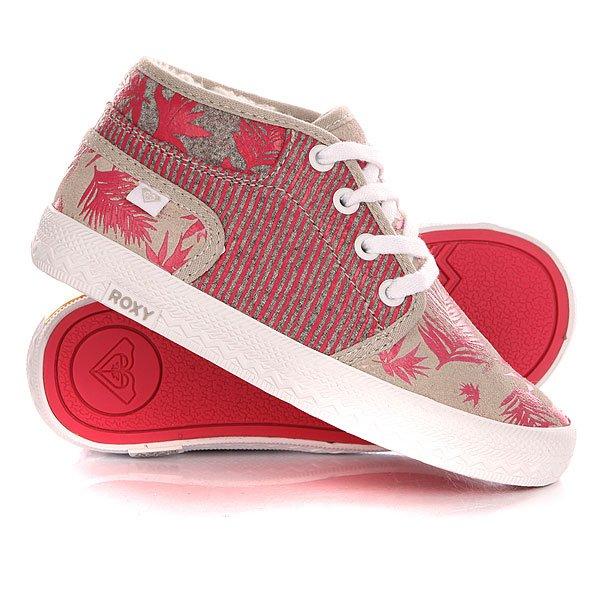 Кеды кроссовки зимние детские Roxy Tw Lindie Grey<br><br>Цвет: розовый,серый<br>Тип: Кеды зимние<br>Возраст: Детский