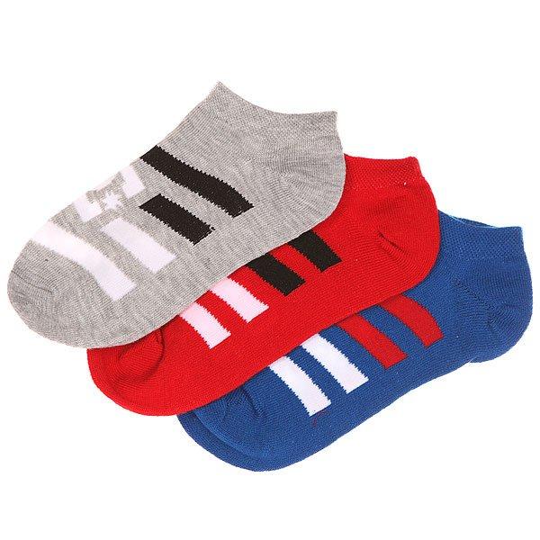 Носки низкие детские DC 3pk No Shows Multi<br><br>Цвет: красный,серый,синий<br>Тип: Носки низкие<br>Возраст: Детский