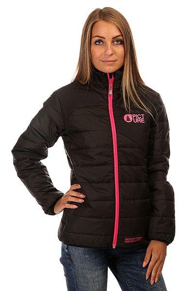 Куртка зимняя женская Picture Organic Cloe Puff BlackУтепленная женская куртка из переработанного полиэстера.Технические характеристики: Переработанный полиэстер.Без капюшона.Высокий воротник-стойка.Карманы для рук на молнии.Яркая молния.Логотип Picture Organic на груди.<br><br>Цвет: черный<br>Тип: Куртка зимняя<br>Возраст: Взрослый<br>Пол: Женский