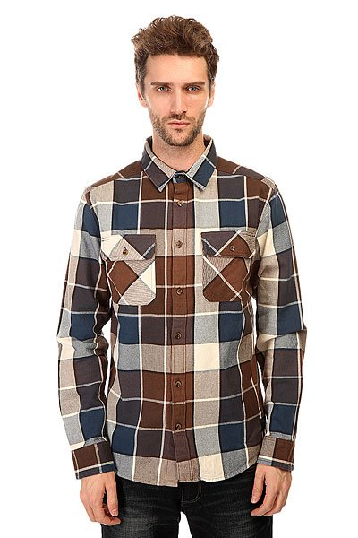 Рубашка в клетку DC Kalis Plaid Ls Wvtp Kalis Plaid Dark Ear