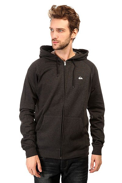 Толстовка классическая Quiksilver Everyday Zip Otlr Black Anthracite