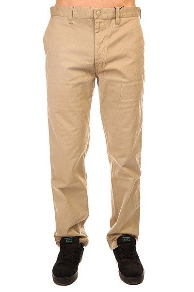 Штаны широкие DC Wrk Rmy Chno Ndpt KhakiВыглядеть чуть взрослее, собрав более серьезный лук, помогут чиносы DC Worker Slim благодаря своему облегающему классическому крою без лишних деталей. Эластичная ткань позволит двигаться в этих брюках также активно как и в любимых джинсах, так что можете смело надевать их в скейт-парк также часто, как и на прогулки с друзьями.Характеристики:Скошенные карманы для рук. Облегающий крой Slim Fit. Ширинка на молнии. Нашивка с логотипом над задним карманом. Два задних кармана. Карман для монет.<br><br>Цвет: бежевый<br>Тип: Штаны широкие<br>Возраст: Взрослый<br>Пол: Мужской