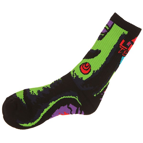 Носки средние Lib Tech Green Girl Sock Black
