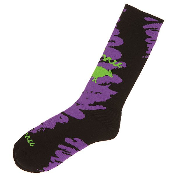 Носки средние GNU Advanced Geo Sock Purple