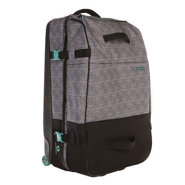Сумка дорожная Burton Wheelie Sub Pinwheel WeaveФункциональная и вместительная сумка для комфортных путешествий. Благодаря технологии CRAM™, а также прочной задней панели, Вы можете вместить больше багажа и не беспокоиться за его сохранность.Технические характеристики: Система увеличения объема CRAM™.Гладкие скейтовые колеса  IXION™.SNAKESTACK™ - внешний карабин для крепления.Система разделения сумки DOUBLE DOWN™.Легкая и прочная задняя панель PU.Компрессионные ремни.Съемный мешок для вещей.Контурные молнии.Карманы для хранения вещей.Мягкие ручки.Телескопическая ручка.Логотип Burton.<br><br>Цвет: черный,серый<br>Тип: Сумка дорожная<br>Возраст: Взрослый<br>Пол: Мужской