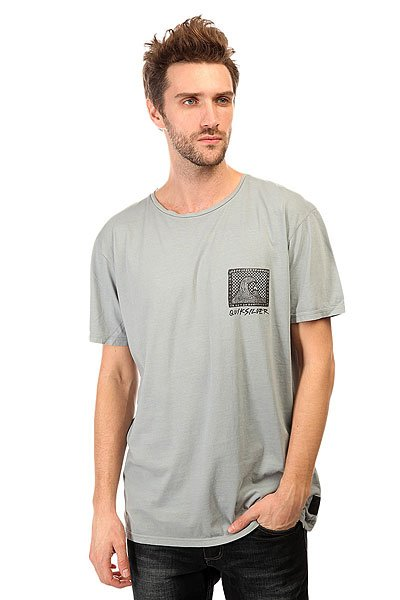 Футболка Quiksilver Checker Pasts Tees Flint Stone модные футболки