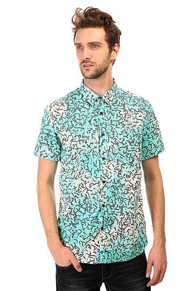 Рубашка Quiksilver Cracked Shirts Cracked Aruba BlueМодная рубашка со сплошным принтом. Выполненная из натурального хлопка, эта стильная рубашка с коротким рукавом отлично подойдет для жаркой погоды.Характеристики:Приталенный крой. Сплошной принт.Нагрудный карман. Короткий рукав. Отложной воротник.<br><br>Цвет: голубой,белый<br>Тип: Рубашка<br>Возраст: Взрослый<br>Пол: Мужской