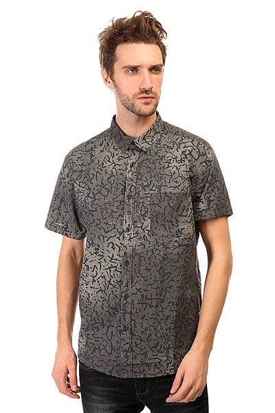 Рубашка Quiksilver Cracked Shirt Cracked AnthraciteМодная рубашка со сплошным принтом. Выполненная из натурального хлопка, эта стильная рубашка с коротким рукавом отлично подойдет для жаркой погоды.Характеристики:Приталенный крой. Сплошной принт.Нагрудный карман. Короткий рукав. Отложной воротник.<br><br>Цвет: черный,серый<br>Тип: Рубашка<br>Возраст: Взрослый<br>Пол: Мужской