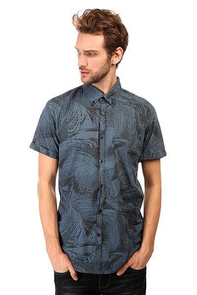 Рубашка Quiksilver Dark Trip Shirt Wvtp Dark Trip Dark DenimМодная рубашка со сплошным принтом. Выполненная из натурального хлопка, эта стильная рубашка с коротким рукавом отлично подойдет для жаркой погоды.Характеристики:Приталенный крой. Сплошной принт.Короткий рукав. Отложной воротник.<br><br>Цвет: синий,черный<br>Тип: Рубашка<br>Возраст: Взрослый<br>Пол: Мужской