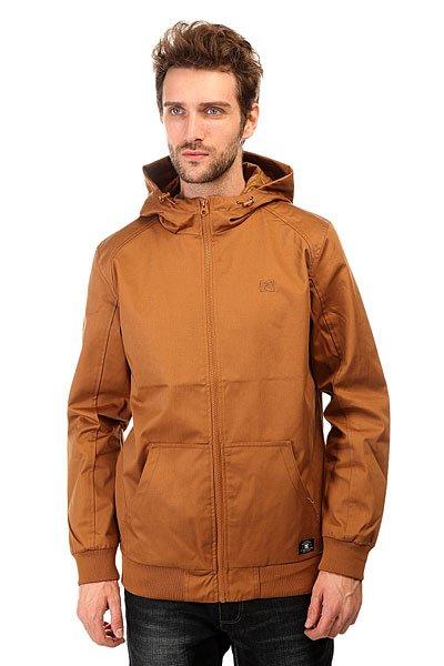 Куртка DC Ellis Lght Jkt WheatЛегкая куртка-бомбер - именно то, что нужно, когда речь идет о тепле и комфорте.Характеристики:Внутренняя подкладка из тафты.Застежка – молния. Эластичные манжеты на рукавах и подоле. Два вместительных накладных функциональных кармана. Фиксированный капюшон.<br><br>Цвет: коричневый<br>Тип: Куртка<br>Возраст: Взрослый<br>Пол: Мужской