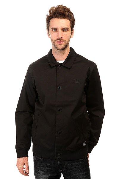 Куртка DC Dalston Jckt BlackЛегкая и удобная куртка для комфортных прогулок.Характеристики:Внутренняя подкладка из тафты.Застежка – кнопки. Классический воротник.Эластичные манжеты на рукавах и подоле. Два вместительных прорезных кармана.<br><br>Цвет: черный<br>Тип: Куртка<br>Возраст: Взрослый<br>Пол: Мужской