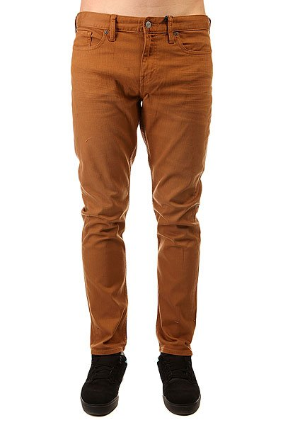 Джинсы узкие DC Colour Slim Jea Pant WheatДжинсы Colour Slim Fit помогут сделать общий силуэт аккуратнее и разбавить гардероб новыми цветами, позволяя Вамотдохнуть от слегка поднадоевшей классики синего цвета. Благодаря эластановой нити в составе ткани эти джинсы не стеснят Вас, позволяя тканичуть тянуться, так что можете не только совершать в Colour Slim Pant городские путешествия, но и кататься на скейтборде.Характеристики:5 карманов. Металлические заклепки. Плотный деним 10 Oz. Ширинка на молнии. Небольшой тканый логотип на заднем кармане. Перфорированный логотип из кожи PU на задней части пояса.Облегающий крой Slim Fit.<br><br>Цвет: коричневый<br>Тип: Джинсы узкие<br>Возраст: Взрослый<br>Пол: Мужской