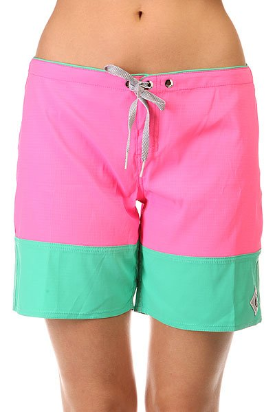 Шорты пляжные женские Volcom Sparrow Boardie Neon Pink<br><br>Цвет: розовый<br>Тип: Шорты пляжные<br>Возраст: Взрослый<br>Пол: Женский