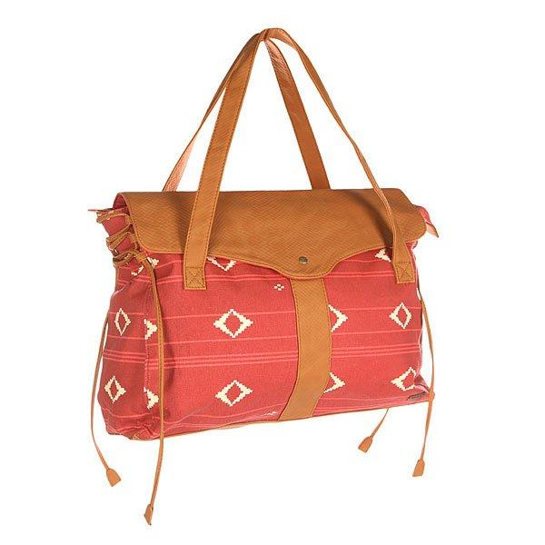 Сумка женская Roxy Vibes Noosa Geo Combo FadeВместительная женская сумка позволит взять все необходимые мелочи с собой.Характеристики:Застежка – молния+накладка на кнопке. Потайной карман. Две ручки для ношения сумки в руках/через плечо.Форм-фактор – плечевая сумка (shoulder bag).<br><br>Цвет: розовый,коричневый<br>Тип: Сумка<br>Возраст: Взрослый<br>Пол: Женский