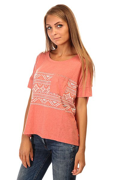 Футболка женская Roxy Boxybohoborder J Tees Faded Rose
