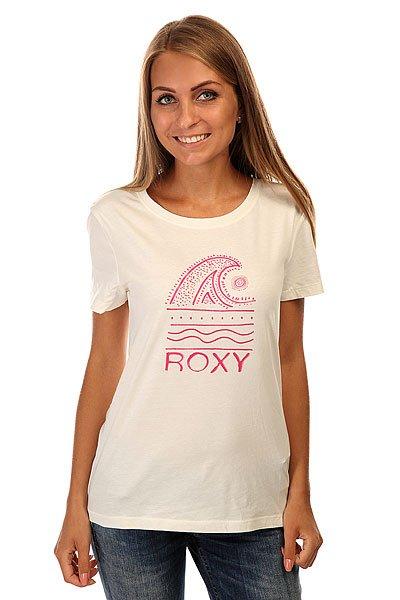 Футболка женская Roxy Itty Doty Wave J Tees Sea SprayФутболка для лета с ярким принтом.Характеристики:Классический крой. Короткие рукава. Круглый вырез. Графический принт.<br><br>Цвет: бежевый<br>Тип: Футболка<br>Возраст: Взрослый<br>Пол: Женский