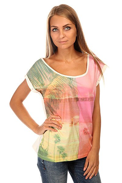 Футболка женская Roxy Photogenicworld J Tees Sand Piper