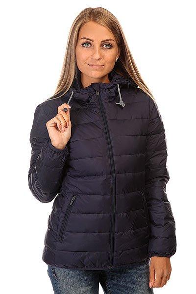 Куртка зимняя женская Roxy Foreverfreely J Jckt EclipseТеплая и практичная стеганая куртка с капюшоном отлично подходит для активного зимнего отдыха.Технические характеристики: Подкладка - полиэстер.Фиксированный капюшон на шнурках.Карманы для рук на молнии.Эластичные манжеты и подол.Застежка - молния.<br><br>Цвет: синий<br>Тип: Куртка зимняя<br>Возраст: Взрослый<br>Пол: Женский