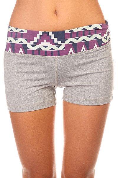 Шорты пляжные женские Roxy Own It Short 2 J Ndst Heritage HeatherСамые удобные шорты, которые можно себе только представить. В Комплекте с любимой футболкой они составят ваш идеальный пляжный лук.Характеристики:Прилегающий крой. Низкая талия.Широкий эластичный пояс. Плоские швы.<br><br>Цвет: серый,фиолетовый<br>Тип: Шорты пляжные<br>Возраст: Взрослый<br>Пол: Женский