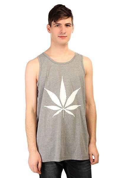 Майка TrueSpin Cannabis GrayКлассная молодежная майка без рукавов, которую можно носить как под одежду, так и в жаркий летний день.Лицевая сторона украшена декоративным принтом.Характеристики:Без рукавов. Швы отделаны кантом.Декоративный принт на груди.<br><br>Цвет: серый<br>Тип: Майка<br>Возраст: Взрослый<br>Пол: Мужской