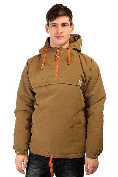 Анорак Fat Moose Sailor Anorak Camel-orangeSailor Anorak- это зимняя куртка от датского брендаFat Moose. Она утеплена подкладкой, которая согреет вас в самые сильные холода.Характеристики:Куртка сделана из непромокаемого материала, который так же защитит вас от сильного ветра.Качественные и долговечные застежки YKK. Удобные шнурки, благодаря которым анорак можно подогнать под себя. Фиксированный капюшон с регулировкой.Регулируемые манжеты на рукавах на кнопках.<br><br>Цвет: зеленый<br>Тип: Анорак<br>Возраст: Взрослый<br>Пол: Мужской