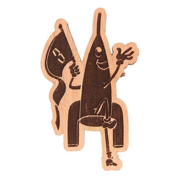 Значок Запорожец Х Waf-waf Ракета BiegeДеревянный значок в форме забавной ракеты с гравировкой от российского бренда Запорожец.Технические характеристики: Материал - дерево.Гравировка.Застежка - булавка.<br><br>Цвет: бежевый<br>Тип: Значок<br>Возраст: Взрослый<br>Пол: Мужской