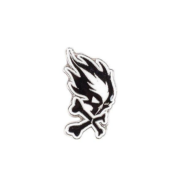 Значок Pyromaniac Big Skull Black/White