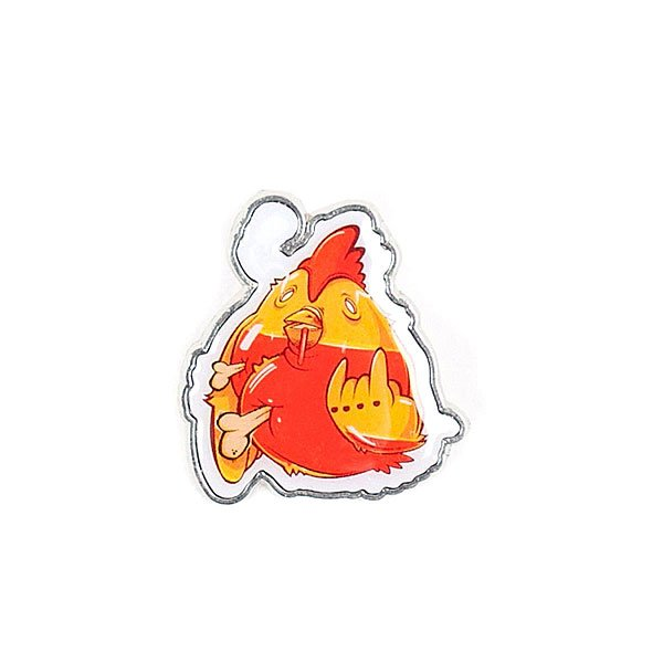 значок-pyromaniac-rooster-orange-red