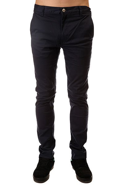 Штаны узкие Emerica Pure Slim Chino Navy штаны прямые billabong new order chino khaki