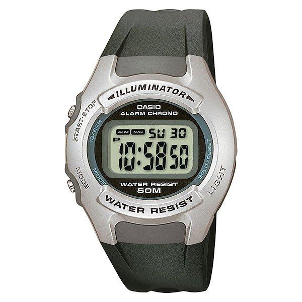Электронные часы Casio Collection W-42h-1a GreyКлассическая модель наручных электронных часов в полимерном корпусе, которая  знакома нам уже не одно десятилетие и благодаря своей универсальности, такие часы никогда не выйдут из моды.Технические характеристики: Светодиодная подсветка -  для подсветки дисплея используется светодиод.Функция секундомера - 1/100 сек. - 1 час.Ежедневный будильник.Автоматический календарь.12/24-часовое отображение времени.Корпус из полимерного пластика.Ремешок из полимерного материала.5 лет - 1 аккумулятор.Водонепроницаемость (5 Бар) - эти часы можно носить при принятии душа или ванны - часы проверены на водонепроницаемость до 5 Бар/на глубине до 50 метров.Точность  +/- 30 сек в месяц.<br><br>Цвет: серый<br>Тип: Электронные часы<br>Возраст: Взрослый<br>Пол: Мужской