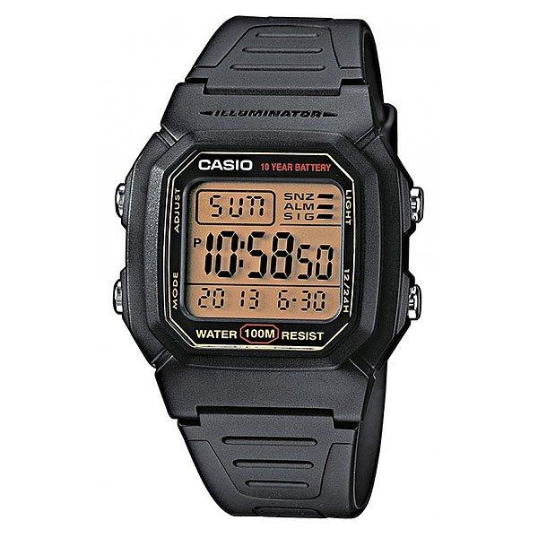 Электронные часы Casio Collection W-800hg-9a BlackКлассическая модель наручных электронных часов в полимерном корпусе, которая  знакома нам уже не одно десятилетие и благодаря своей универсальности, такие часы никогда не выйдут из моды.Технические характеристики: Светодиодная подсветка -  для подсветки дисплея используется светодиод.Дополнительный циферблат мирового времени.Функция секундомера - 1/100 сек. - 24 часа.Будильник с многофункциональными звуковыми сигналами.Функция повтора будильника.Автоматический календарь.12/24-часовое отображение времени.Корпус из полимерного пластика.Ремешок из полимерного материала.Продолжительное время работы аккумулятора - 10 лет.Водонепроницаемость (10 Бар) - до 100 метров.Точность  +/- 30 сек в месяц.<br><br>Цвет: черный<br>Тип: Электронные часы<br>Возраст: Взрослый<br>Пол: Мужской