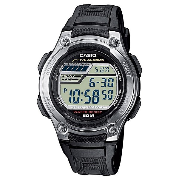 Электронные часы Casio Collection W-212h-1a Black/Grey электронные часы casio collection w 212hd 1a silver