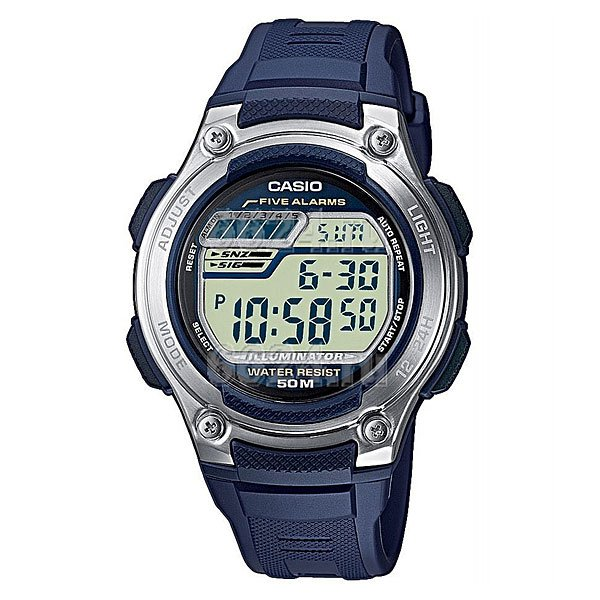 Электронные часы Casio Collection W-212h-2a Navy/Grey