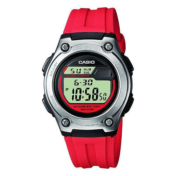 Электронные часы Casio Collection W-211-4a Red/Grey